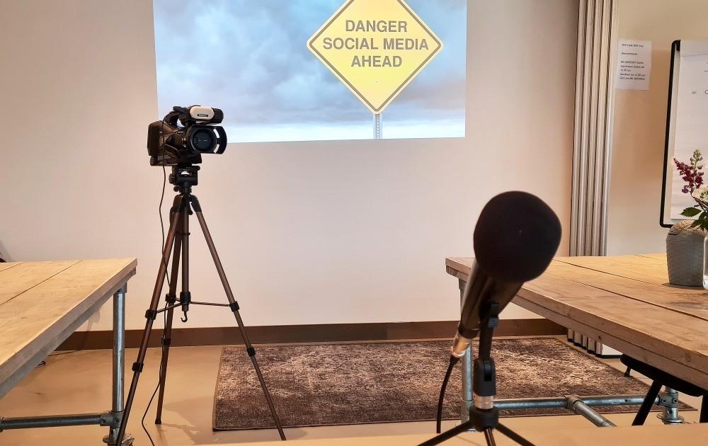 Mediatraining locatie camera en microfoon