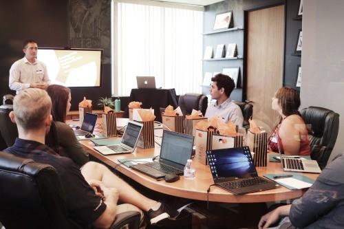 Powerpoint presentatietraining op kantoor